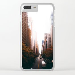 Cityscape Line (Color) Clear iPhone Case