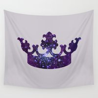 crown Wall Tapestries featuring SPACE CROWN by Caio Trindade