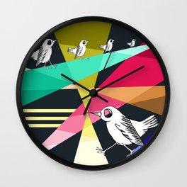 feeling like a bird stuck on the ground Wall Clock