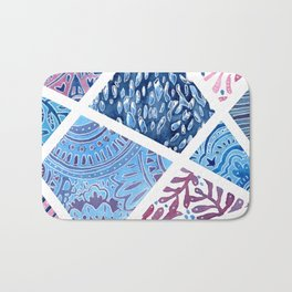 Sectional Patterns - Blue and Purple Bath Mat