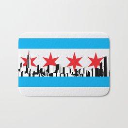 New Chicago Flag Bath Mat