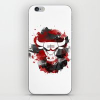 chicago bulls iPhone & iPod Skins featuring Bulls Splatter by OhMyGod, SoGood!