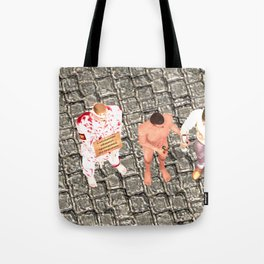 SquaRed: Three of Us Tote Bag