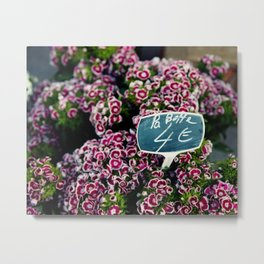 At the Flower Market 1 Metal Print