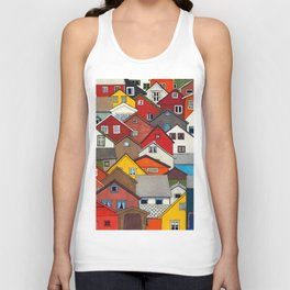 Colourful Houses Unisex Tank Top