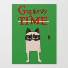 Grumpy time (grumpy cat) Canvas Print