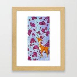 Hello, Deer! Framed Art Print