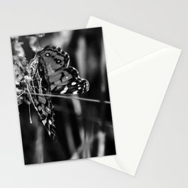 American Lady Butterfly in Black and White Stationery Cards