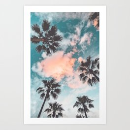 Palms and Pink Clouds Art Print