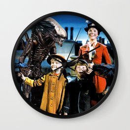 Alien in Mary Poppins Wall Clock
