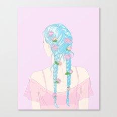 flower braids Canvas Print