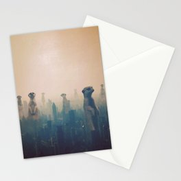 meerkats in the city Stationery Cards