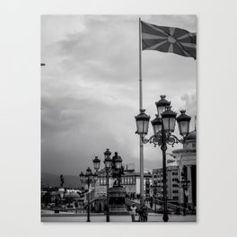 Macedonian Flag Canvas Print