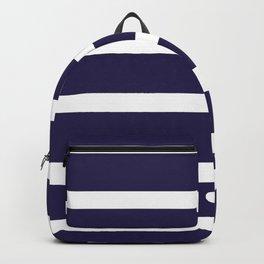 Preppy Navy Blue Stripes Backpack