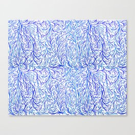 Blue lines pattern Canvas Print