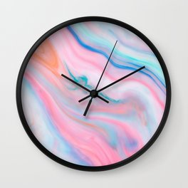 Pastel tones an agate-like marble stone Wall Clock