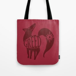 The Fox's Sin of Greed Tote Bag