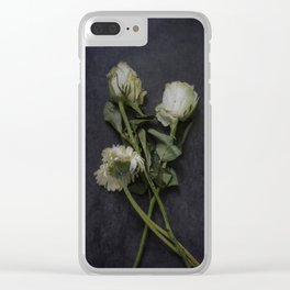 Wilting Flowers Clear iPhone Case