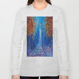 Impressionist Autumn -  ( inspired by Pollock ) Long Sleeve T-shirt