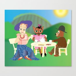 Carmelita At Her Picnic Canvas Print