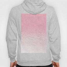 Trendy girly pink gradient elegant glitter Hoody