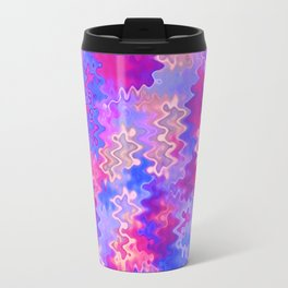 Pink Purple and Blue Marble Waves Travel Mug