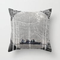 moonrise Throw Pillows featuring MOONRISE by Mari