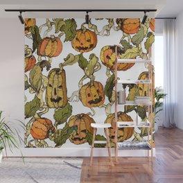halloween party pumpkin Wall Mural