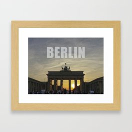 BERLIN, Sunset at the Brandenburg Gate Framed Art Print