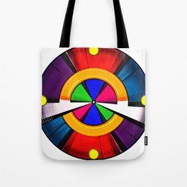 Test Pattern Clock Tote Bag