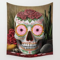 flora Wall Tapestries featuring Flora by SugarSugar