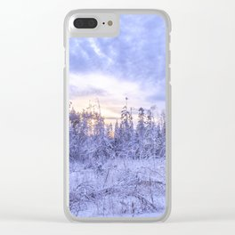 Winter in the forest Clear iPhone Case