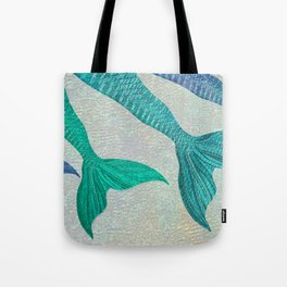 Glistening Mermaid Tails Tote Bag