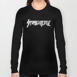 Straight Edge Metal Logo Long Sleeve T-shirt