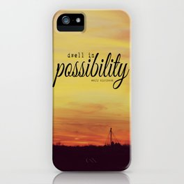 Dwell in Possibility Emily Dickinson iPhone Case