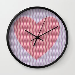 Heart Overload Valentine Issues Wall Clock