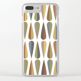 Going Mid-Century Big #3 Clear iPhone Case