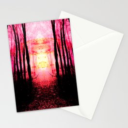 Pink Mystic Sun : Path to Imagination Stationery Cards
