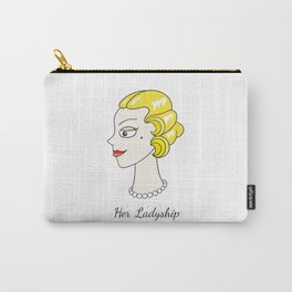 Her Ladyship (plain background without border) Carry-All Pouch