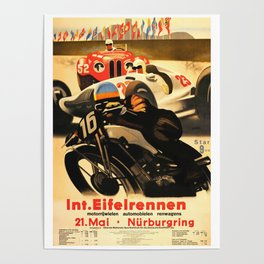Nurburgring Race, vintage poster Poster