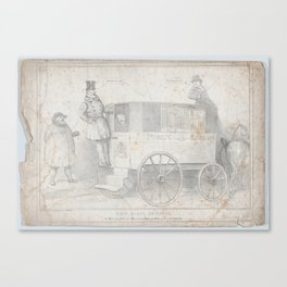 New State Omnibus, or, The Man wot is Cad to the Man wot was Cad to the Man wot drove the Sovereign, Canvas Print