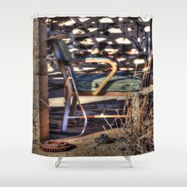 Chair for a Gearhead Shower Curtain