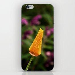 Dewy Poppy Bud iPhone Skin
