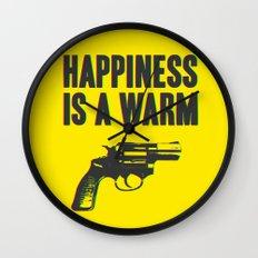 Happiness is a Warm Gun Wall Clock