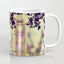View of the Big Ben through the trees - London Coffee Mug