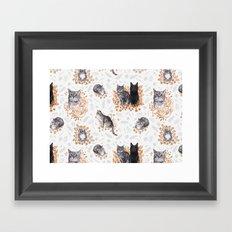 Le Chat Toile de Jouy Framed Art Print