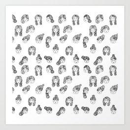 Hair Day Art Print