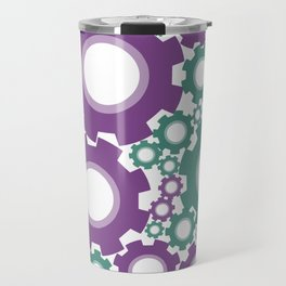 A Cog design in modern colours Travel Mug