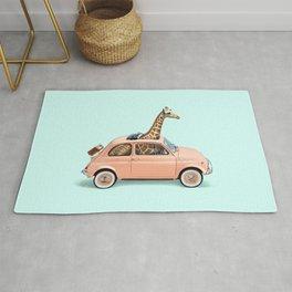 GIRAFFE CAR Rug