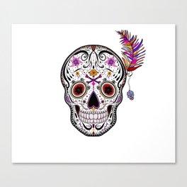 Sweet as Sugar Skull Canvas Print